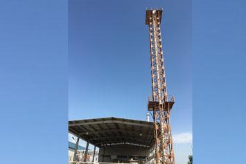 Dg Set Exeuast Steel Tower At Gandhidham